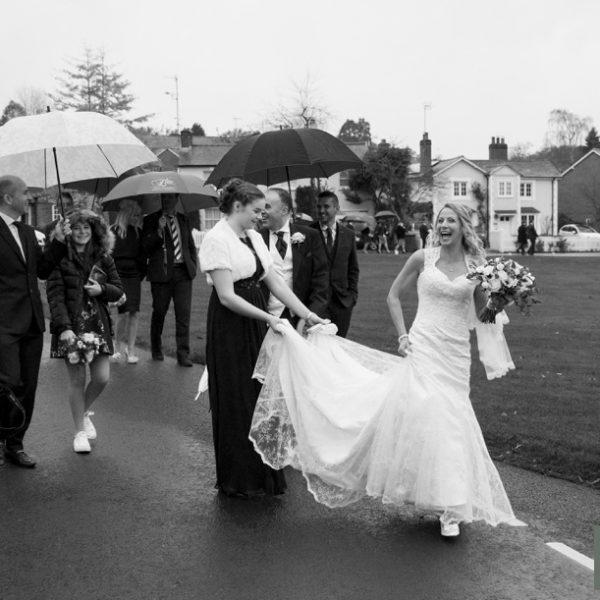 Hartley Wintney village hall wedding - Estelle & Nick