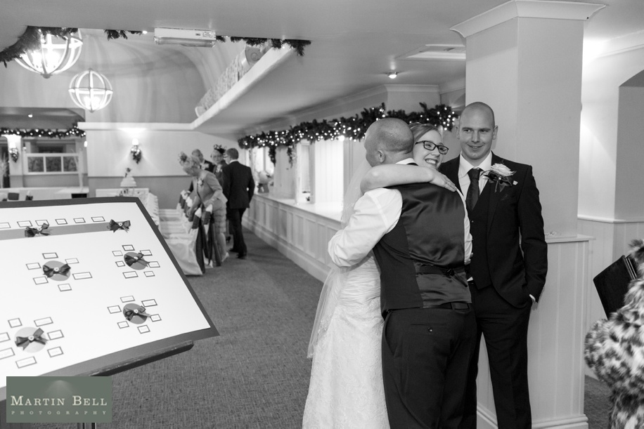 Potters Heron Wedding - receiving line photographs