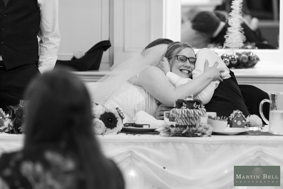 documentary wedding photography at a potters heron wedding in december