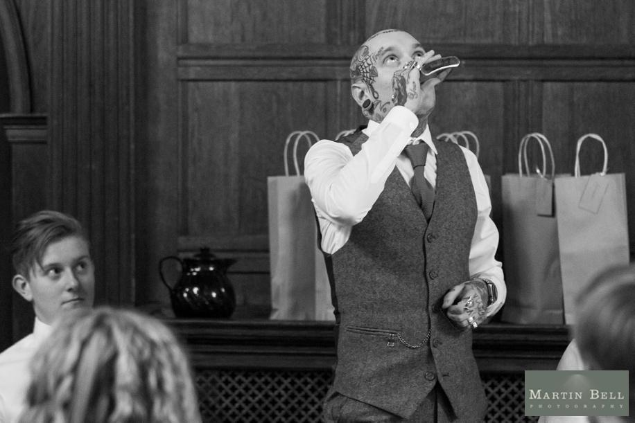 Nervous Best man before his speech - Rhinefield House winter wedding
