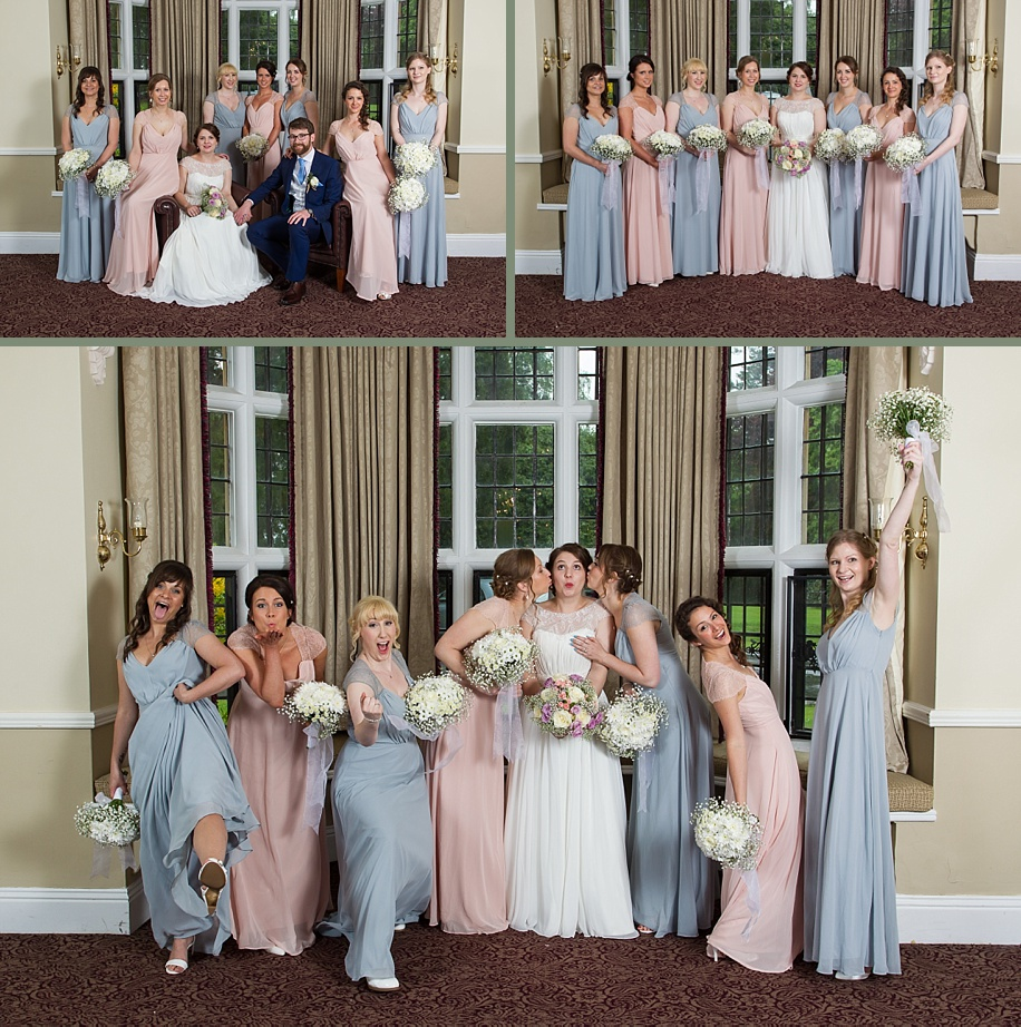 rainy day wedding - group and formal photograph ideas at Rhinefield House