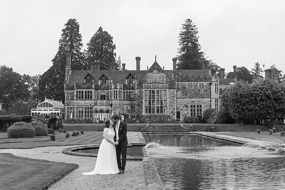 natural and reportage wedding photography at Rhinefield House on a rainy day