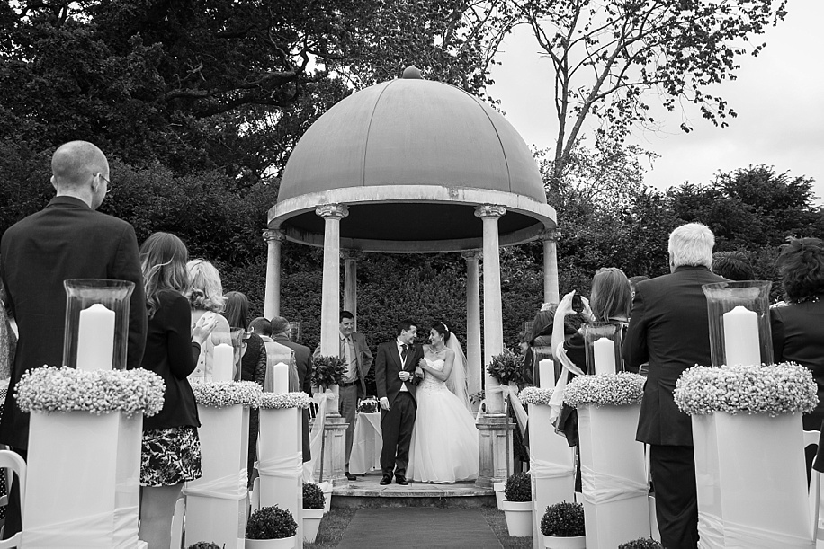 Rhinefield House outdoor ceremony - Sami & James