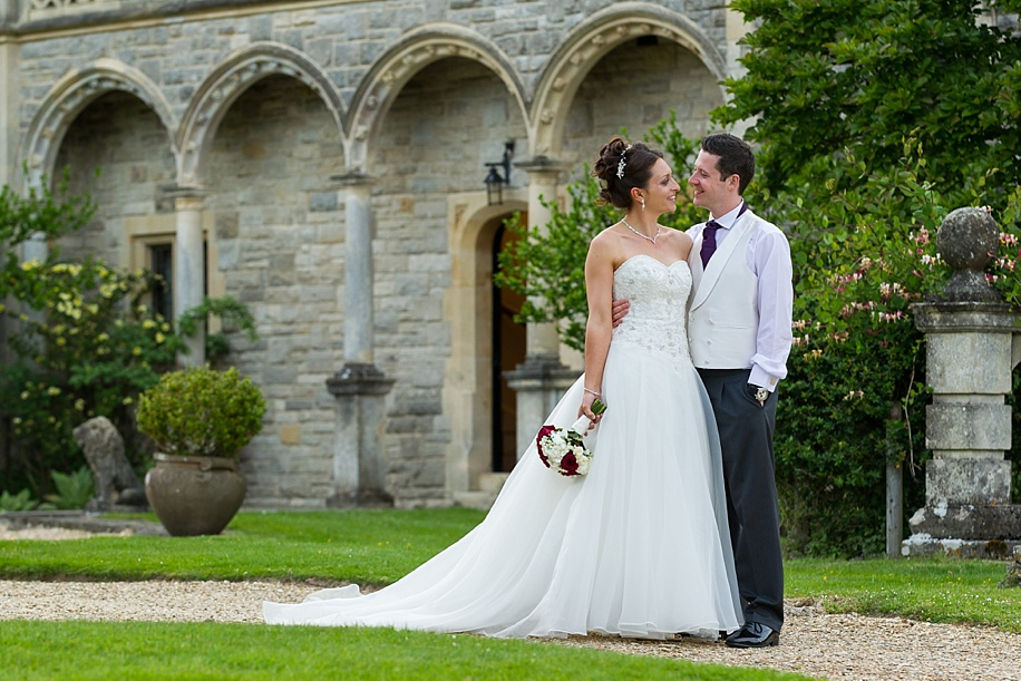 Wedding photographs at Rhinefield House at Sunset