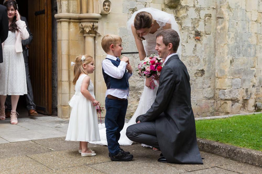 Romsey Abbey wedding photography - documentary wedding photography in Hampshire