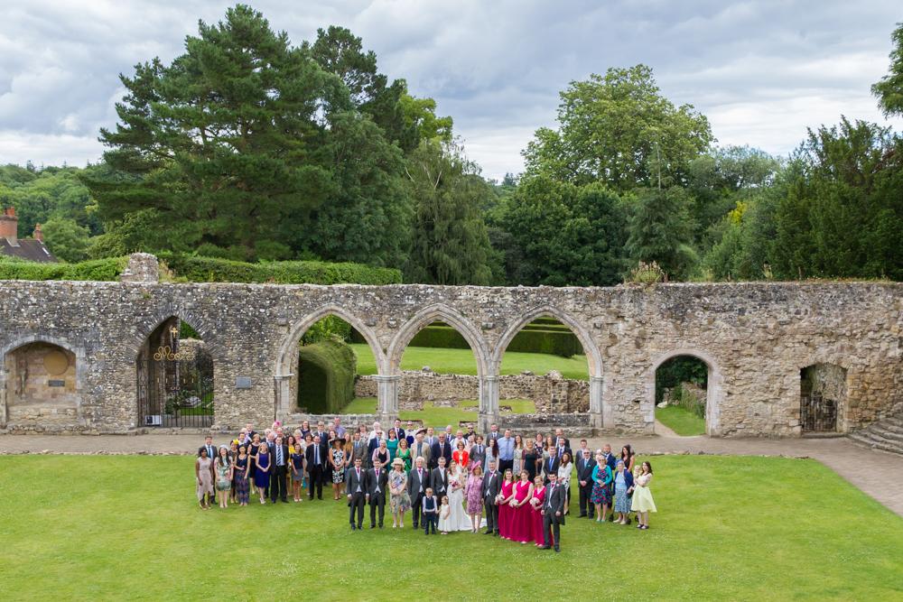 Beaulieu Domus wedding photography - big group photograph
