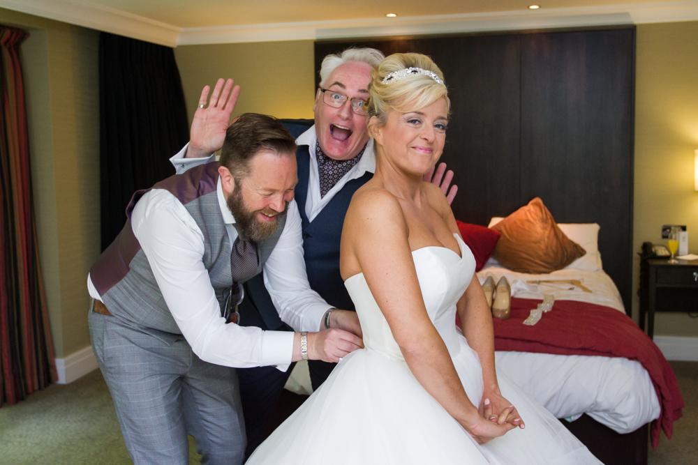fun wedding photographs at Rhinefield House