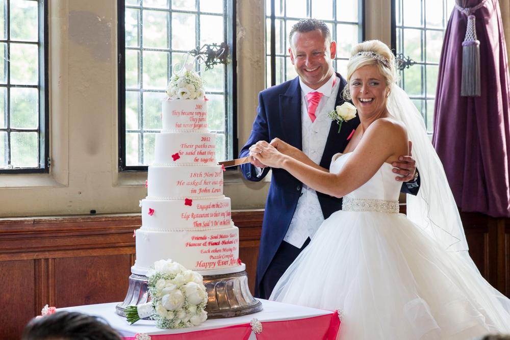 Amazing personalised wedding cake at Rhinefield House
