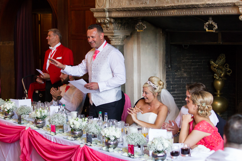 Wedding speeches at Rhinefield House