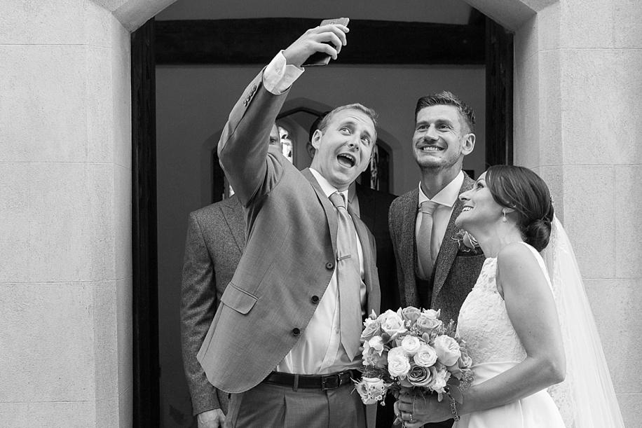 documentary wedding photography - St Edmonds church in Stubbington wedding