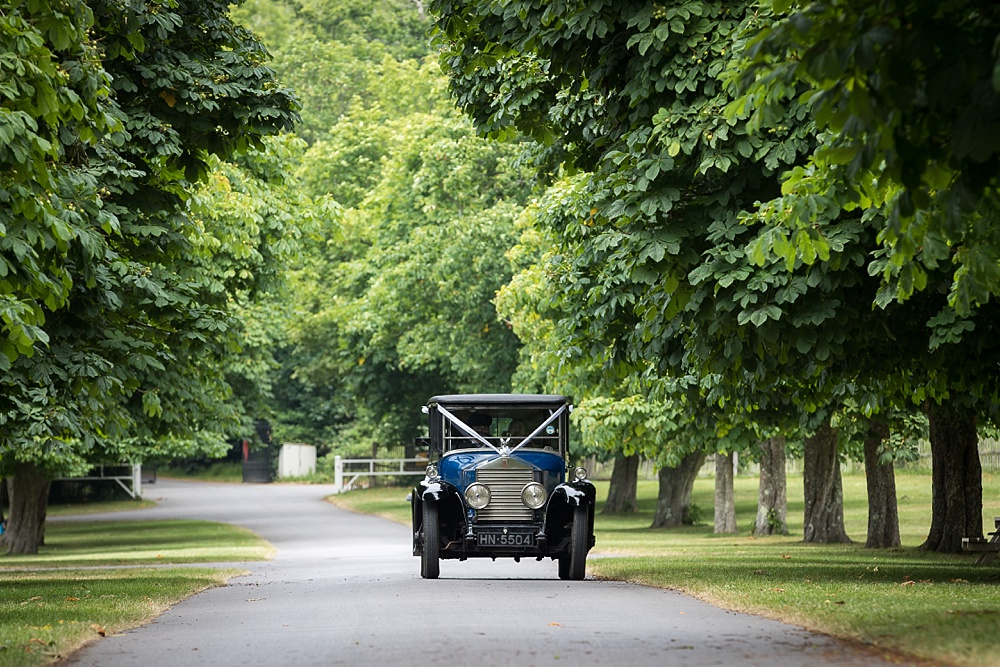 Beaulieu Domus wedding photography by an award winning wedding photographer in Hampshire, Martin Bell photography | vintage wedding car ideas