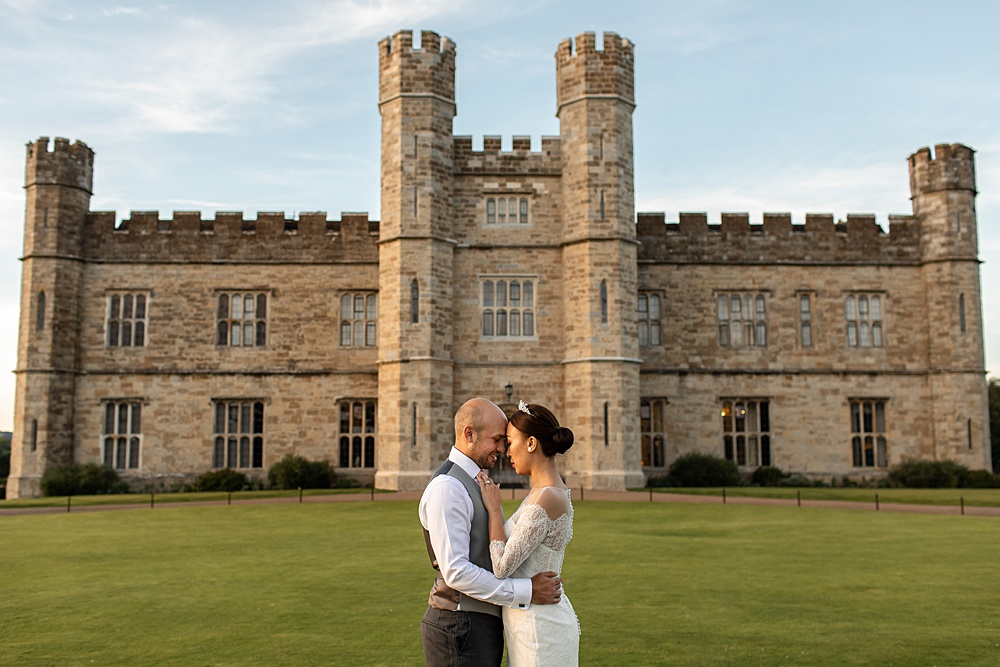 Leeds Castle wedding photography by multi award winning wedding photographer Martin Bell.