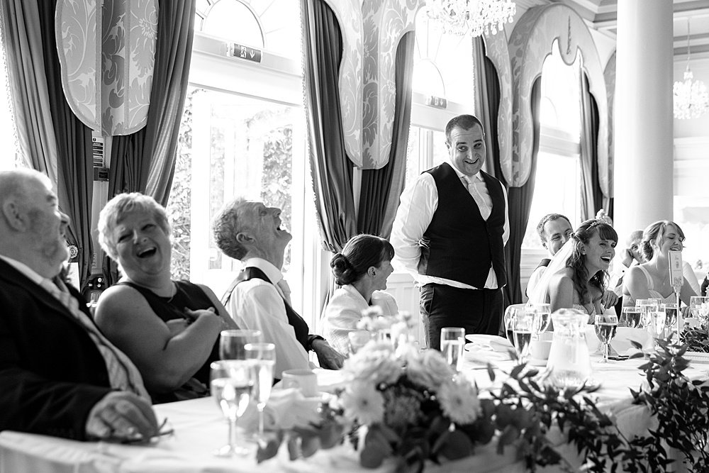Queens Hotel wedding photography by multi award winning wedding photographer Martin Bell.
