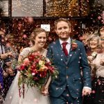 A beautiful Barford Park Barn autumn wedding by award winning hampshire wedding photographer Martin Bell