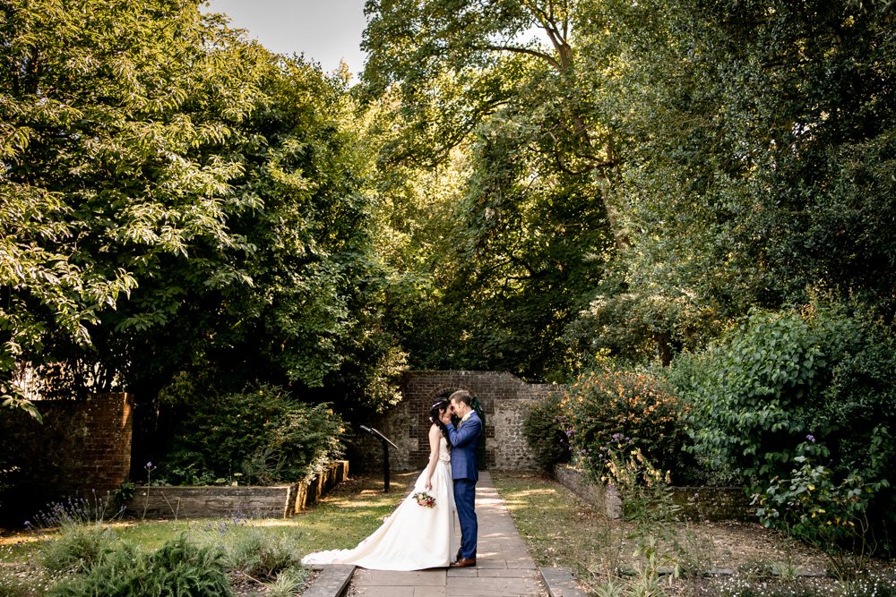 A winchester wedding photographer producing photographs at Winchester registry offices for Clara and Geoff's wedding day